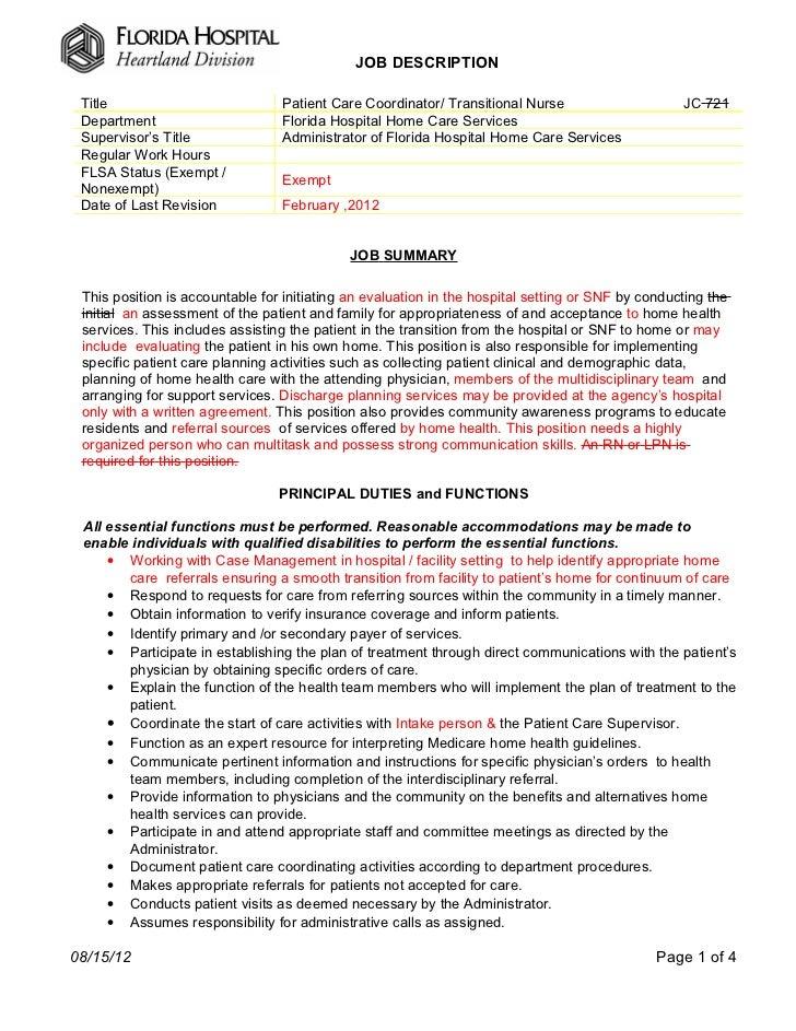 Patient Coordinator Resume. patient care coordinator resume ...