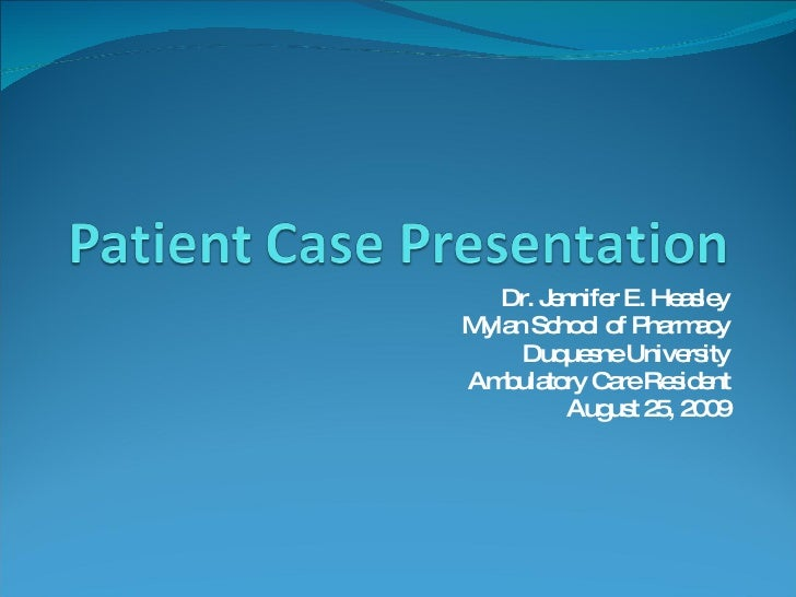 medical case study presentation