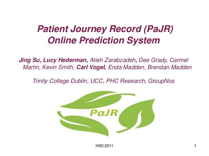 Patient Journey Record(pajr) - Jing Su