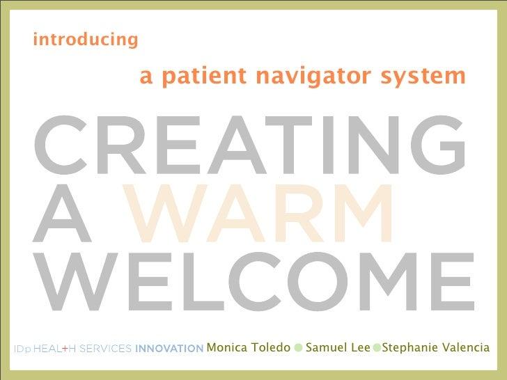 introducing                      a patient navigator system     IDp                      Monica Toledo   Samuel Lee Stepha...