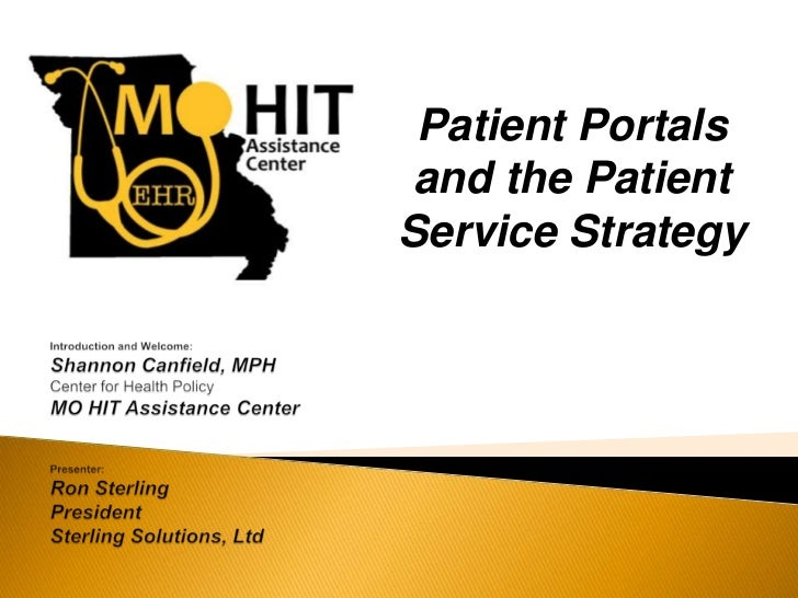 Patient Portals and the PatientService Strategy