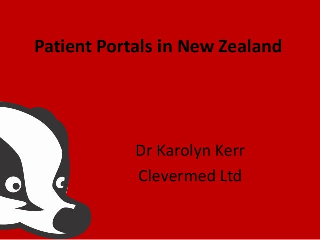 Patient Portals in New Zealand  Dr Karolyn Kerr Clevermed Ltd