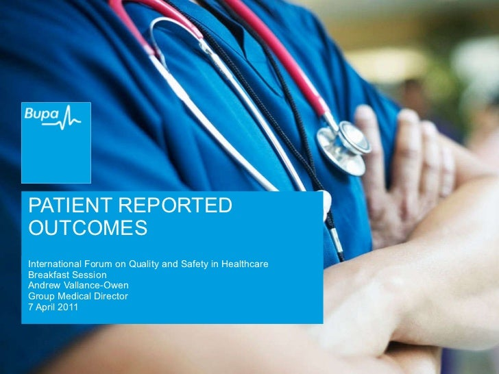 Patient reported outcomes | Andrew Vallance-Owen