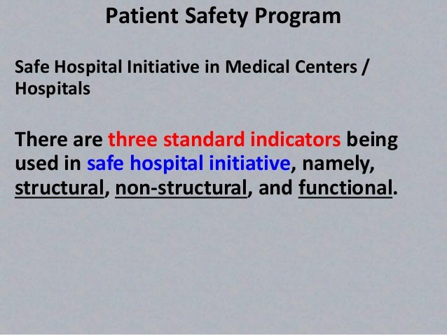 patient safety initiatives in the hospital setting essay Cleveland clinic's patient safety goals with the latex-safe initiative  an event is anything that occurs in the hospital or outpatient setting that caused.