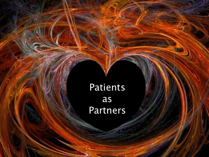 Patients as partners : our New Years Wish for 2012