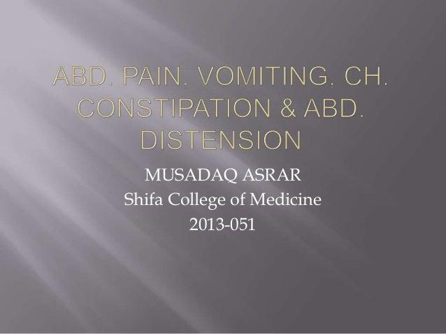 MUSADAQ ASRAR Shifa College of Medicine 2013-051