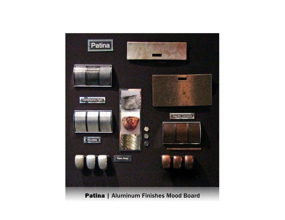 Patina | Aluminum Finishes Mood Board