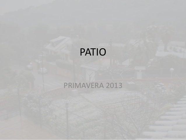 PATIOPRIMAVERA 2013