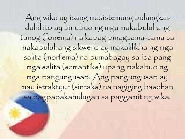 Ang wika ay isang masistemang balangkas dahil ito ay binubuo ng mga makabuluhang tunog (fonema) na kapag pinagsama-sama sa...