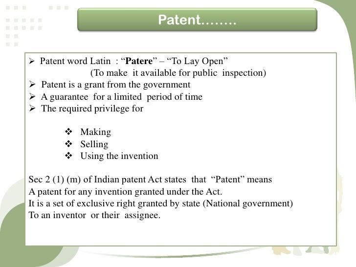 Patnt act