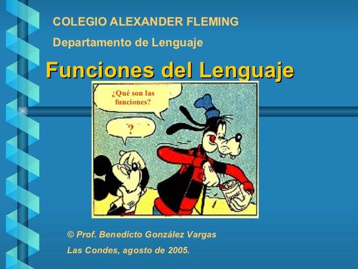 Las Funciones del Lenguaje.
