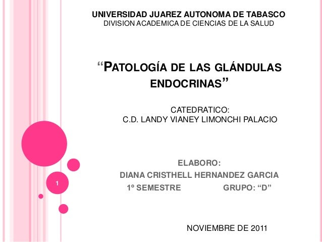 Patología de las glándulas endocrinas