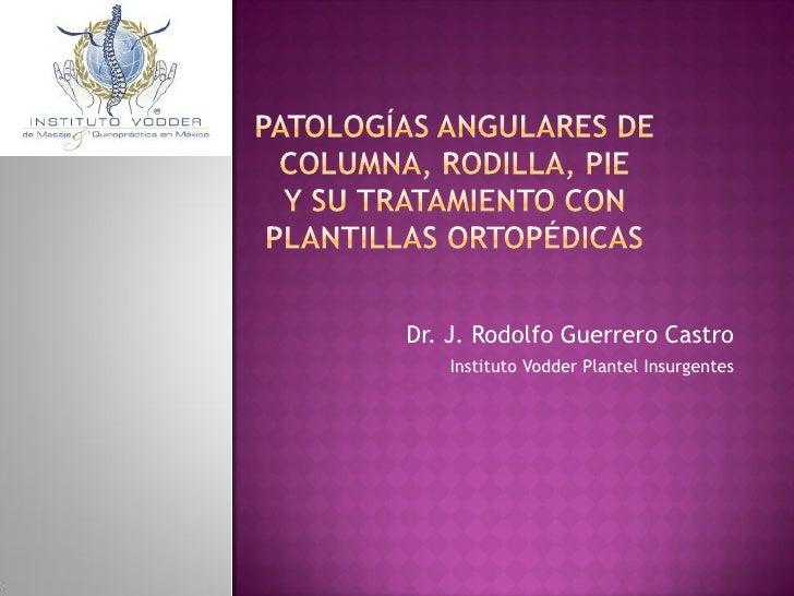 Dr. J. Rodolfo Guerrero Castro    Instituto Vodder Plantel Insurgentes