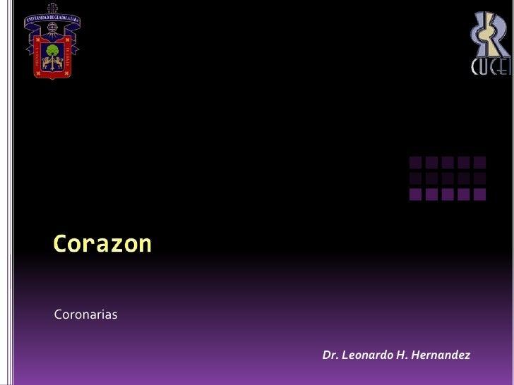 Unidad 1 Corazon Coronarias Patologias I