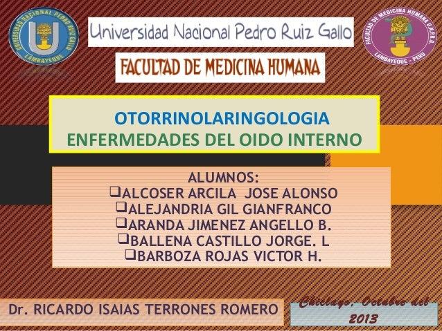 Patologia oido interno final