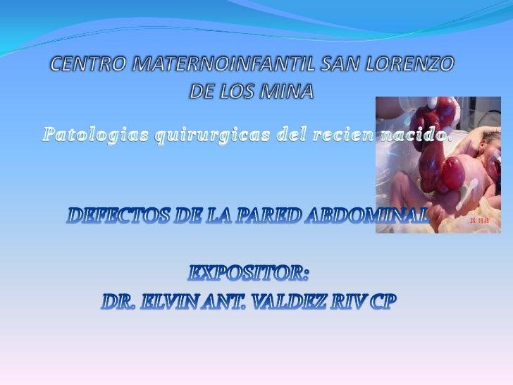 Patologia qx del rn
