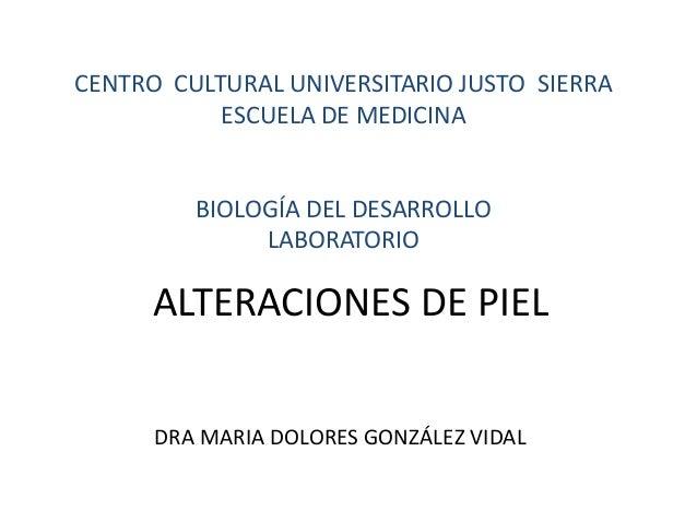 CENTRO CULTURAL UNIVERSITARIO JUSTO SIERRA  ESCUELA DE MEDICINA  BIOLOGÍA DEL DESARROLLO  LABORATORIO  ALTERACIONES DE PIE...