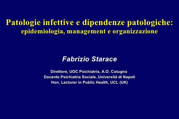 Patologie infettive e doppia diagnosi