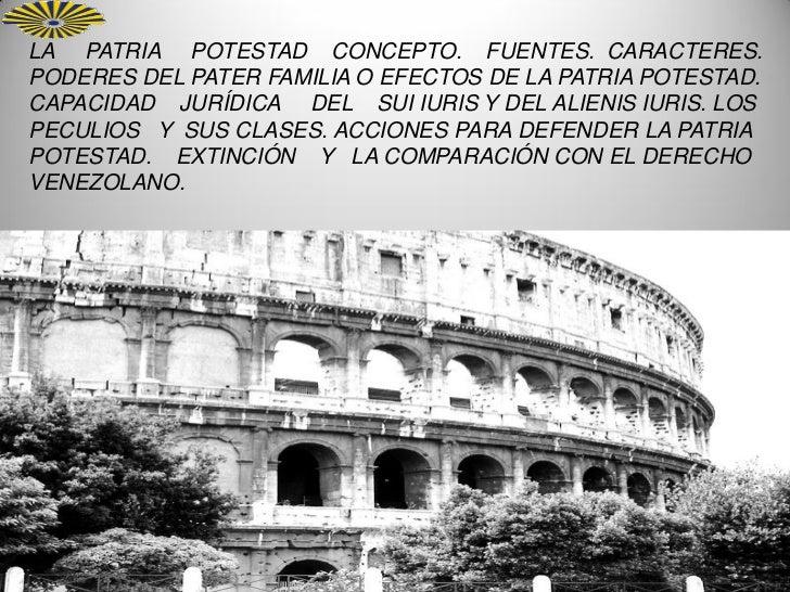 Patria potestad romano e instituiones 2012