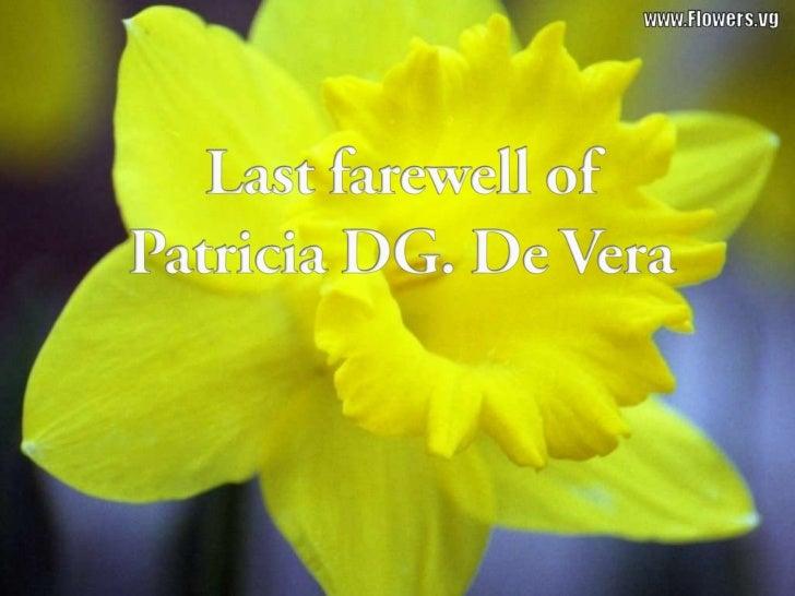 Patricia DG. De Vera's Last Farewell at Holy Gardens Pangasinan Memorial Park