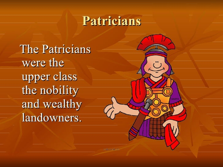 Patricians And Plebeians Syeda
