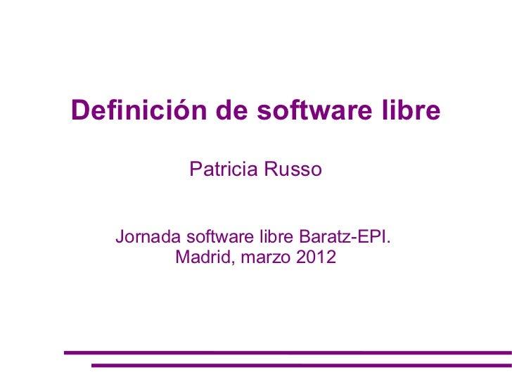 Patricia Russo - Jornada Software Libre - Baratz-EPI