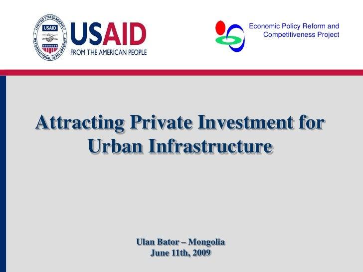 Patricio Mansilla - PPP in Urban Investment