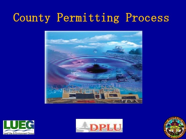 County Permitting Process<br />