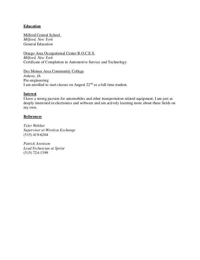Craigslist resume