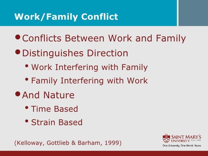 work family conflict Wf-fw conflict 1 work-family conflict: an exploration of causal relationships in a 10-year, 4-wave panel study patricia sikora sarah moore leon grunberg.