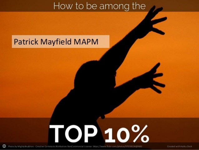 How to be in the top 10% of programme managers: Patrick Mayfield