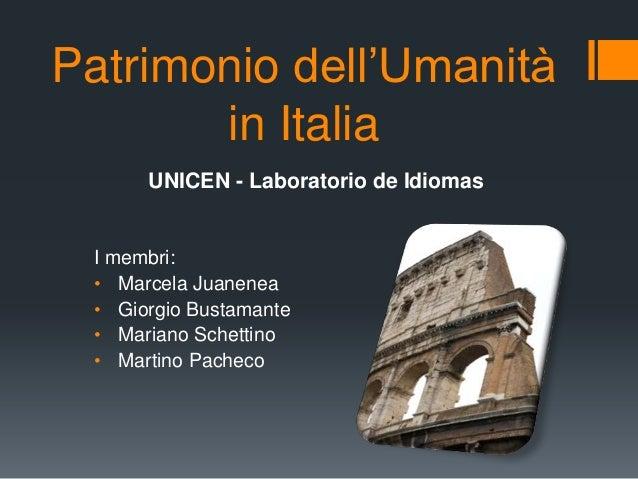 Patrimonio dell'umanità in Italia