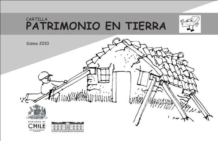 CARTILLA  PATRIMONIO EN TIERRA Sismo 2010