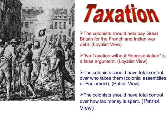 Patriots vs Loyalists?