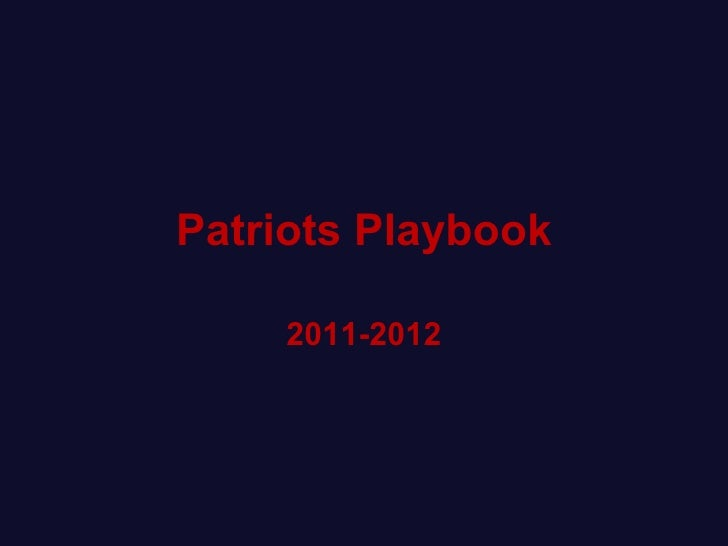 Patriots Playbook 2011-2012