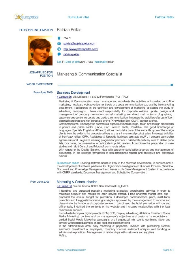 patrizia peitas marketing communication specialist