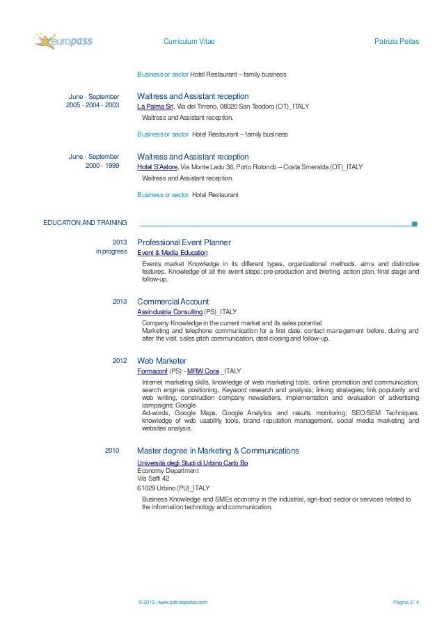 Patrizia Peitas - Marketing & Communication Specialist - European CV