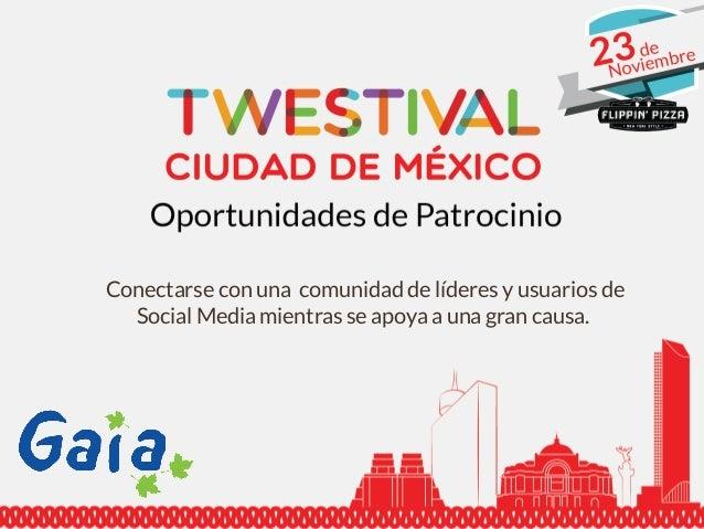 Patrocinios Twestival 2013