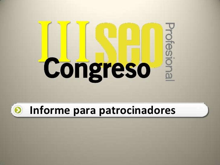 Patrocinio Congreso SEO Pro 2012