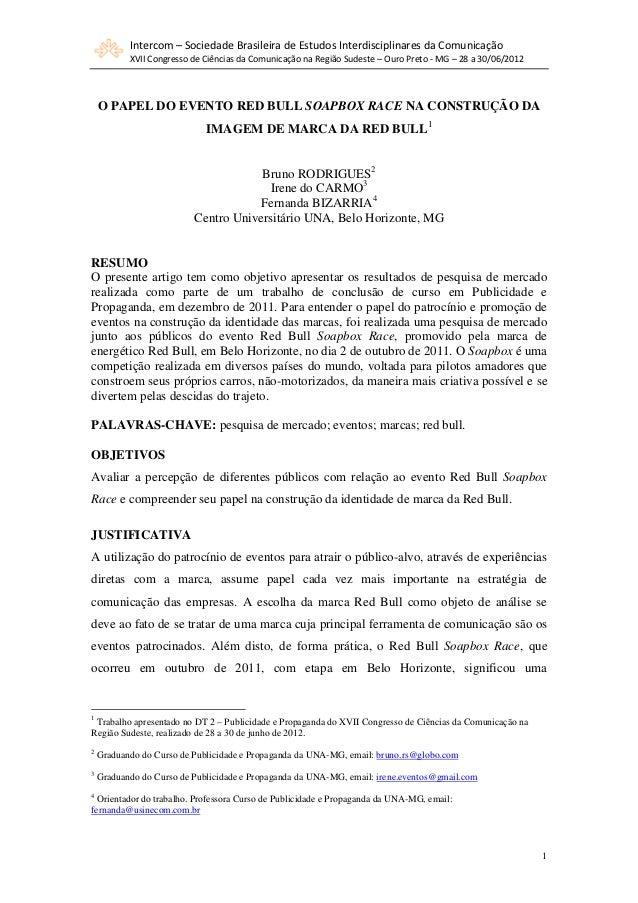 Intercom – Sociedade Brasileira de Estudos Interdisciplinares da Comunicação           XVII Congresso de Ciências da Comun...