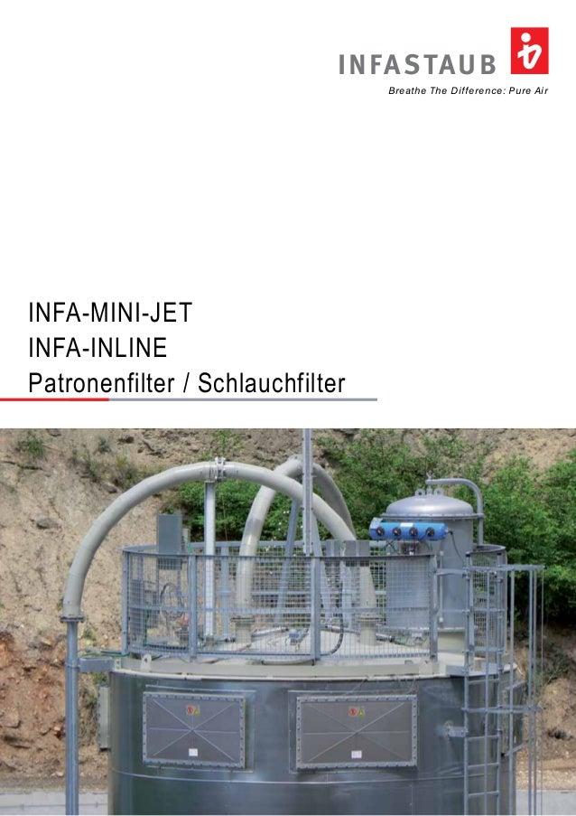 Breathe The Difference: Pure Air INFASTAUB INFA-MINI-JET INFA-INLINE Patronenfilter / Schlauchfilter