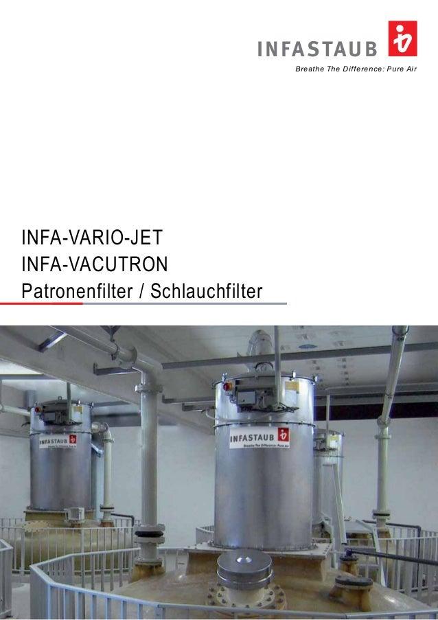 Breathe The Difference: Pure Air INFASTAUB INFA-VARIO-JET INFA-VACUTRON Patronenfilter / Schlauchfilter