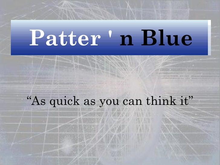 Pattern blue