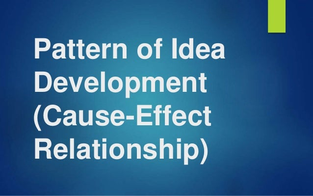 cause and effect relationship in english subject