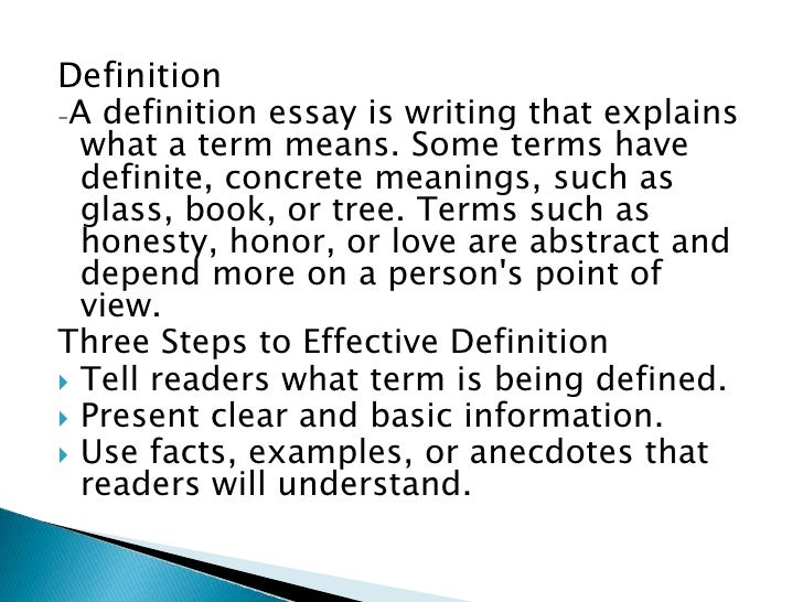 5 paragraph definition essay Have been assigned a definition essay but don't know where to start here is a  great sample paper you can use as a template or to find some fresh ideas.