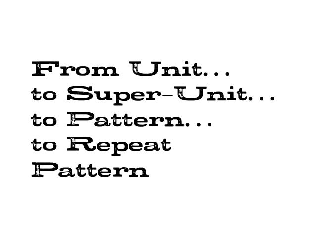 Pattern Progression