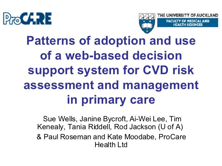 Patterns of adoption and use of a web-based decision support system for CVD risk assessment and management in primary care...