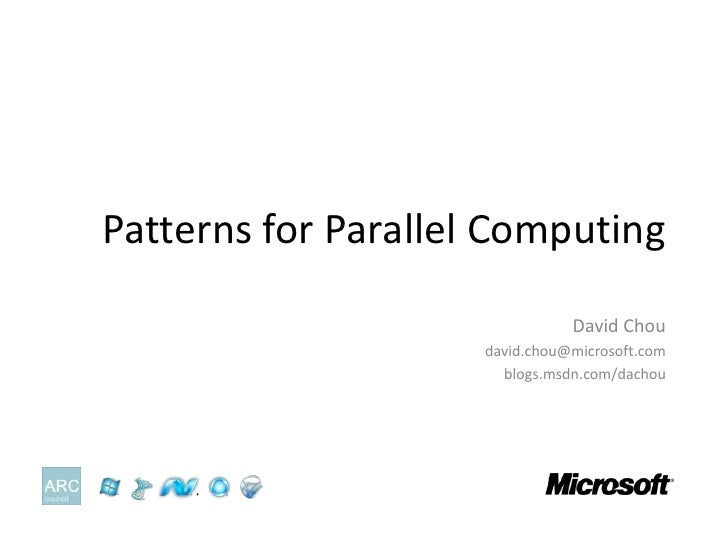 Patterns For Parallel Computing