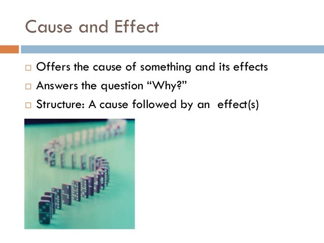 cause and effect essays organization