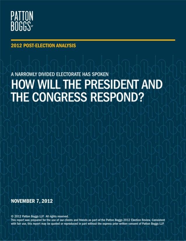 Patton Boggs Post Election Analysis | 15263019